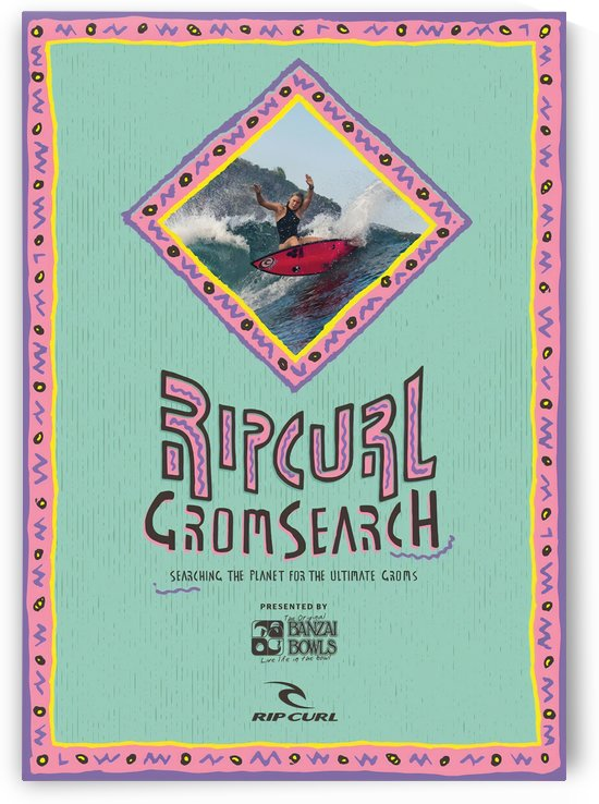2019 RIP CURL Grom Search Print - Surfing Poster by Surf Posters