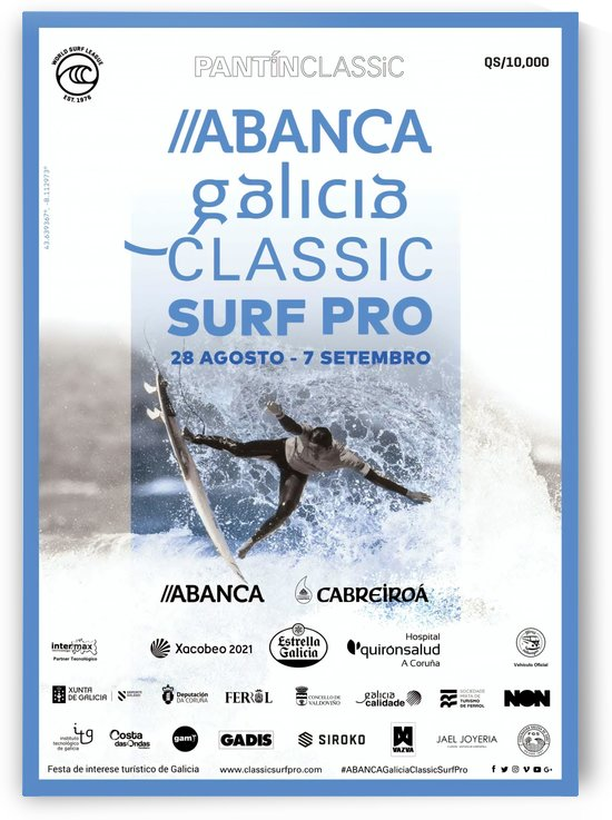 2019 ABANCA Galicia Classic Surf Pro Print - Surfing Poster by Surf Posters
