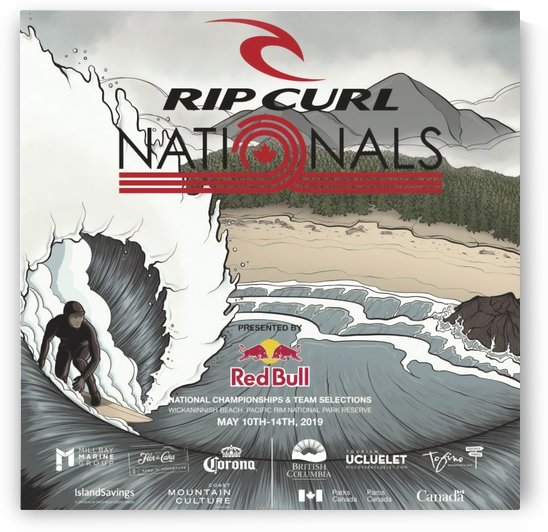 2019 RIP CURL Nationals Print - Surfing Poster by Surf Posters