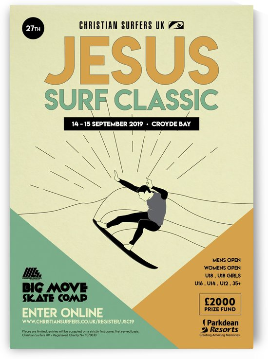 2019 JESUS Surf Classic Print - Surfing Poster by Surf Posters