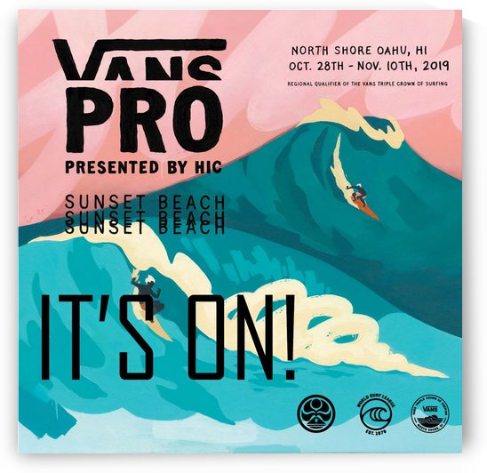 2019 VANS PRO Print - Surfing Poster by Surf Posters