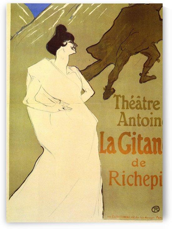 La Gitane de Rechepin by Toulouse-Lautrec by Toulouse-Lautrec