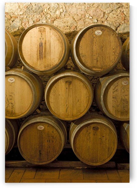 Oak Wine Barrels Chianti Italy by Petr Svarc
