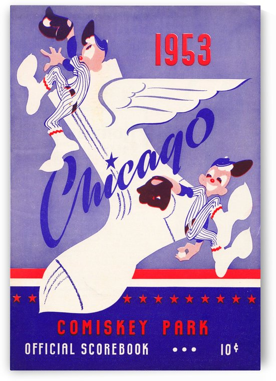 1953 chicago white sox vintage metal sign by Row One Brand