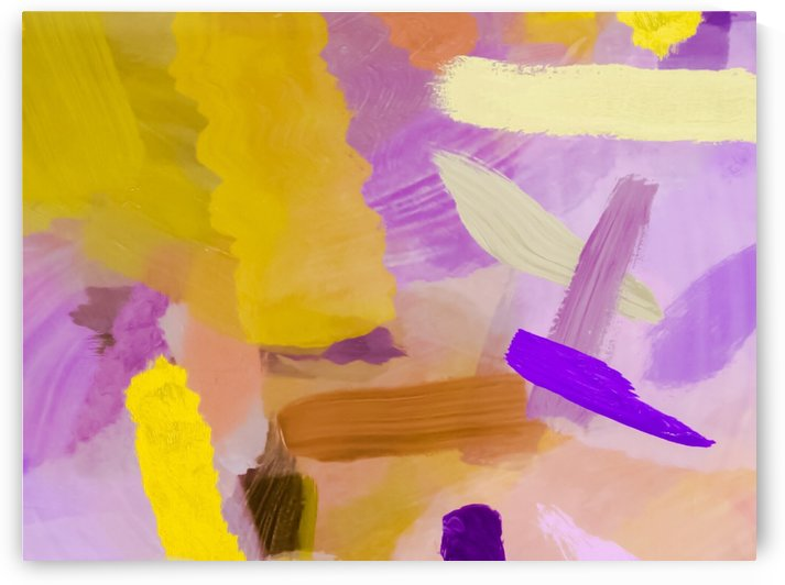 splash brush painting texture abstract background in purple yellow by TimmyLA