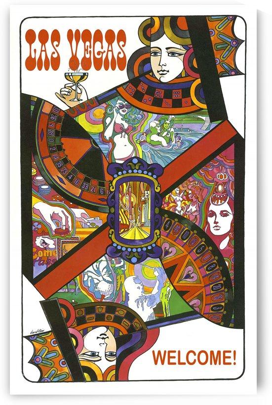 Las Vegas Playing Card by vintagesupreme