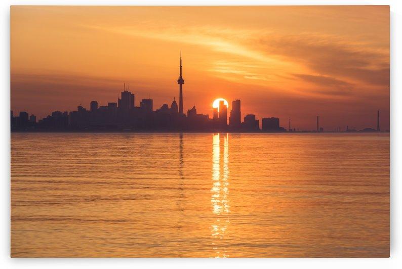 Solar Power Split - Toronto Skyscrapers Dividing the Sunrise by GeorgiaM