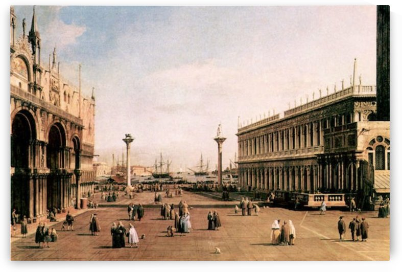 La Piazza by Canaletto by Canaletto