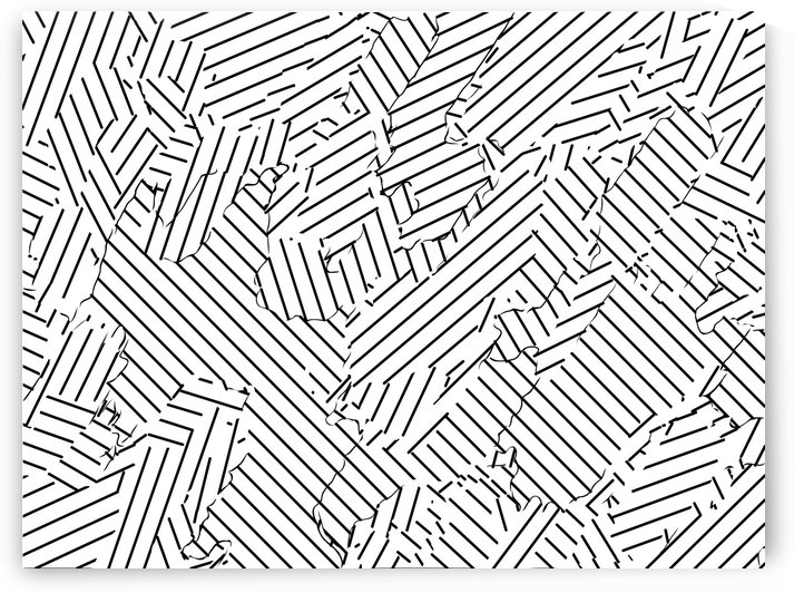 geometric line abstract pattern abstract background in black and white by TimmyLA