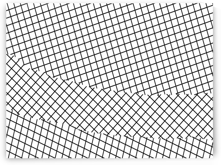geometric square line pattern abstract background in black and white by TimmyLA
