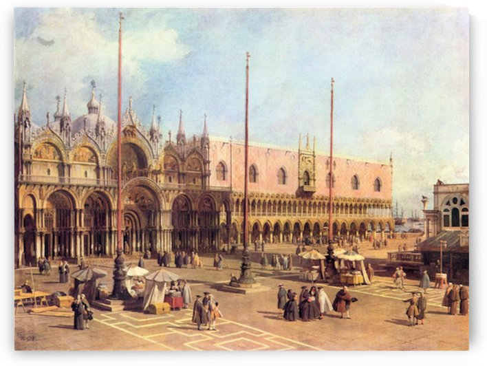 La Piazza San Marco by Canaletto by Canaletto
