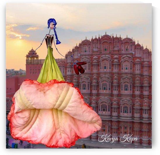Meera in jaipur India - Flower Couture  by Kavya Kapa