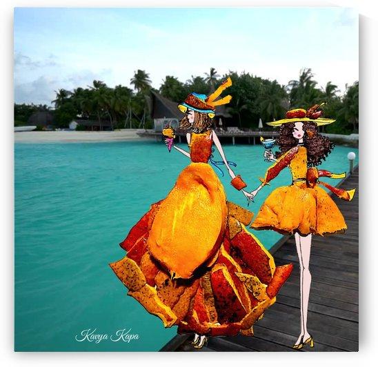 Ava & Mia in the Greek Islands - Mango Couture by Kavya Kapa