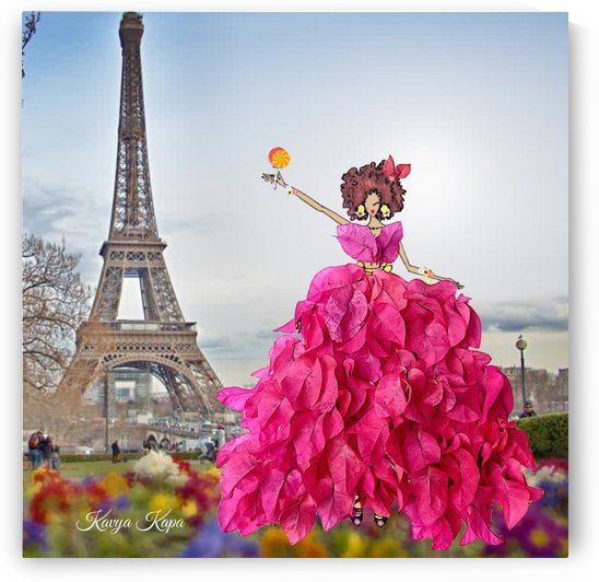 Raphael in Paris - Bougainvillea Couture by Kavya Kapa