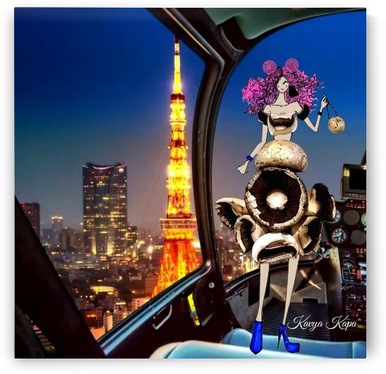 Suki in Tokyo - Mushroom Couture by Kavya Kapa