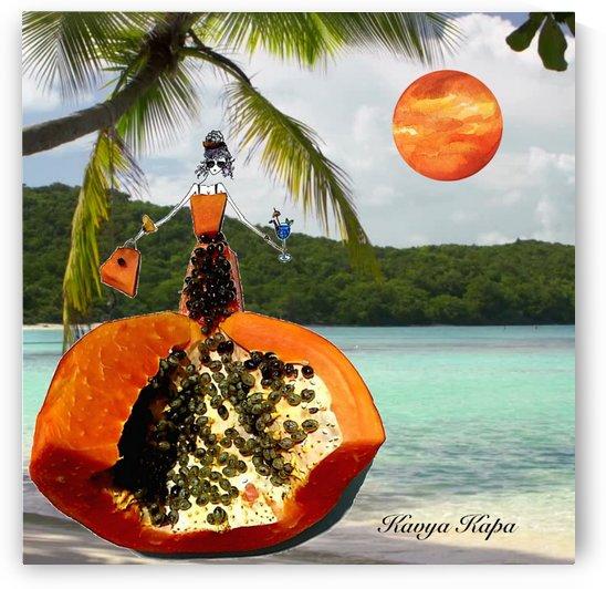 Coco in the Caribbean - Papaya Couture  by Kavya Kapa