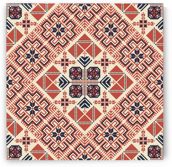 Palestinian embroidery pattern  by Rceeh