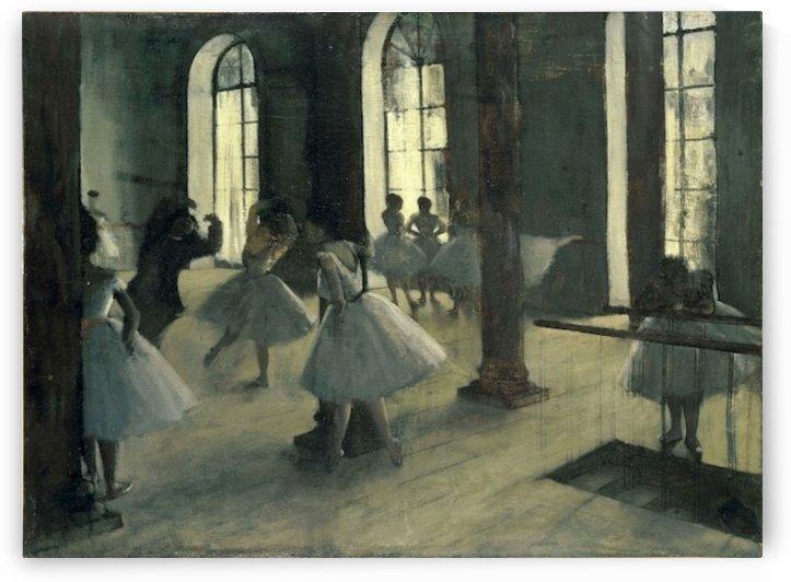 La Repetition au foyer de la danse by Degas by Degas