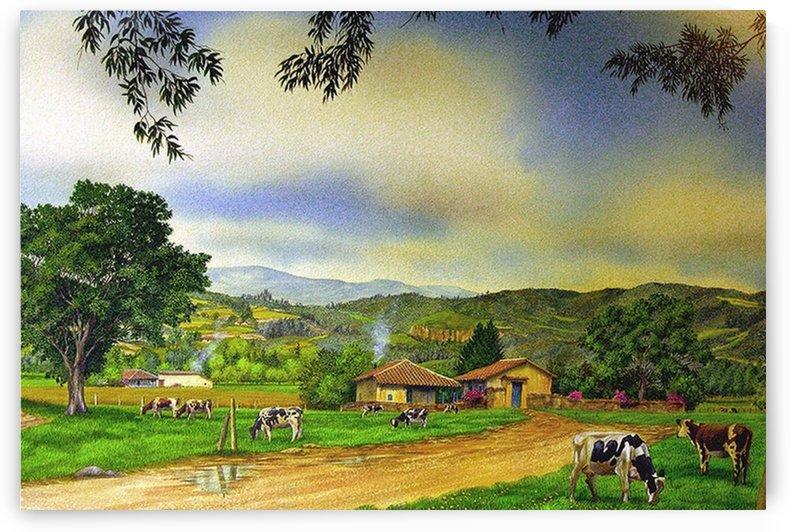 Cows in a Pasture by Al Serino
