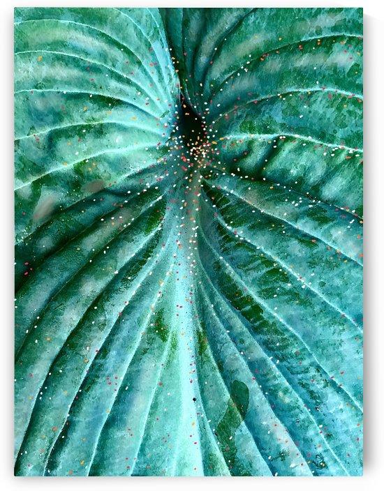 Hosta with Pointillisme by BotanicalArt ca