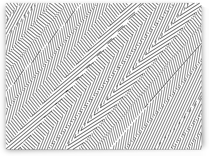 geometric line pattern abstract background in black and white by TimmyLA
