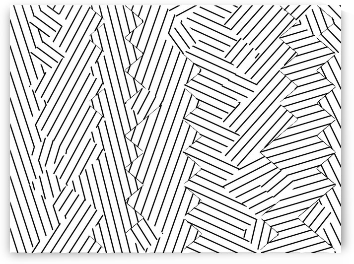 geometric line abstract pattern background in black and white by TimmyLA