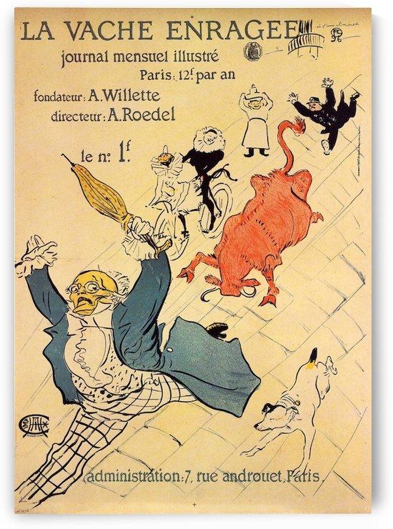La vache enragee by Toulouse-Lautrec by Toulouse-Lautrec