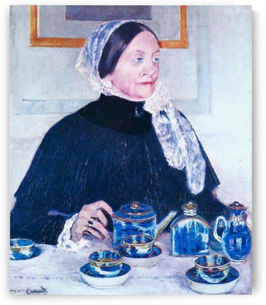 Lady at the Table by Cassatt by Cassatt