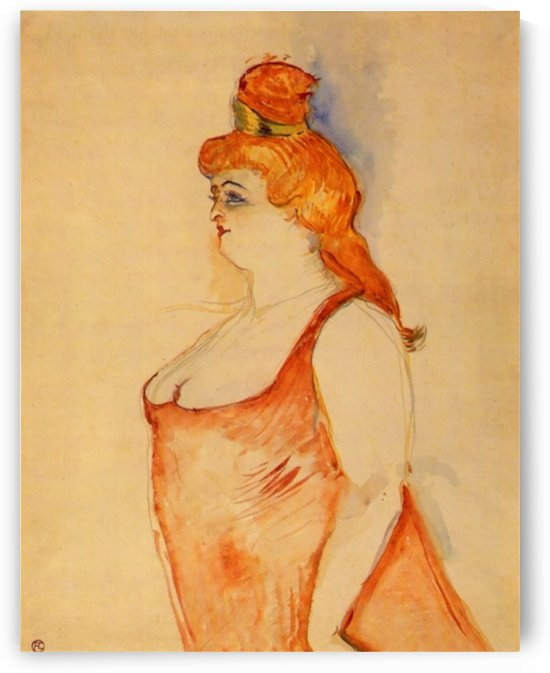 Lady Cocyte by Toulouse-Lautrec by Toulouse-Lautrec