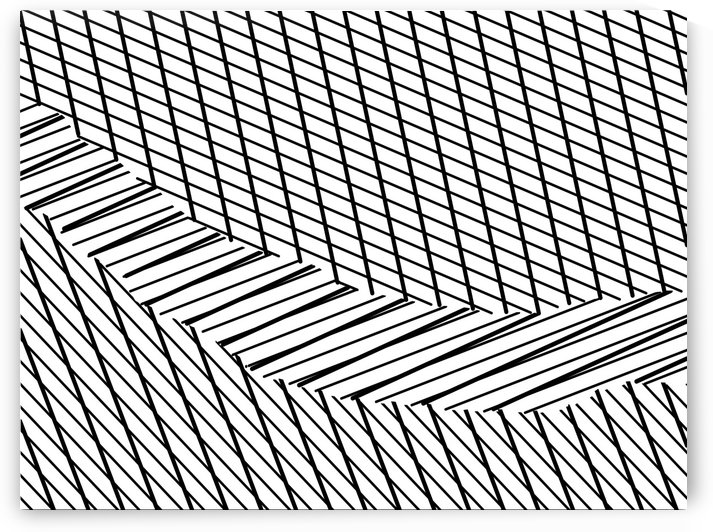 geometric square shape line abstract pattern in black and white by TimmyLA