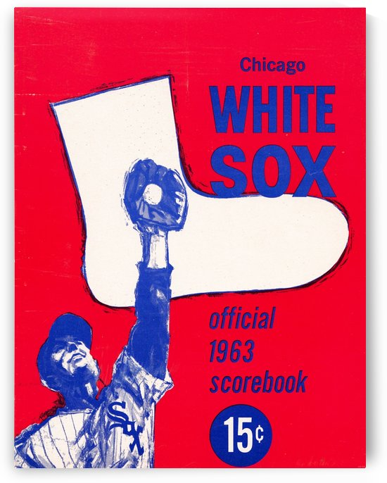 1963 chicago white sox scorebook canvas wall art row 1 by Row One Brand