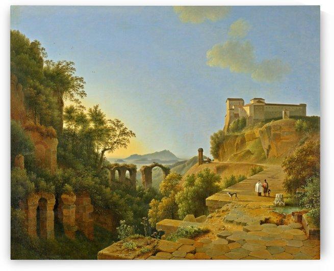 De golf van Napels met op de achtergrond het eiland Ischia by Josephus Augustus Knip
