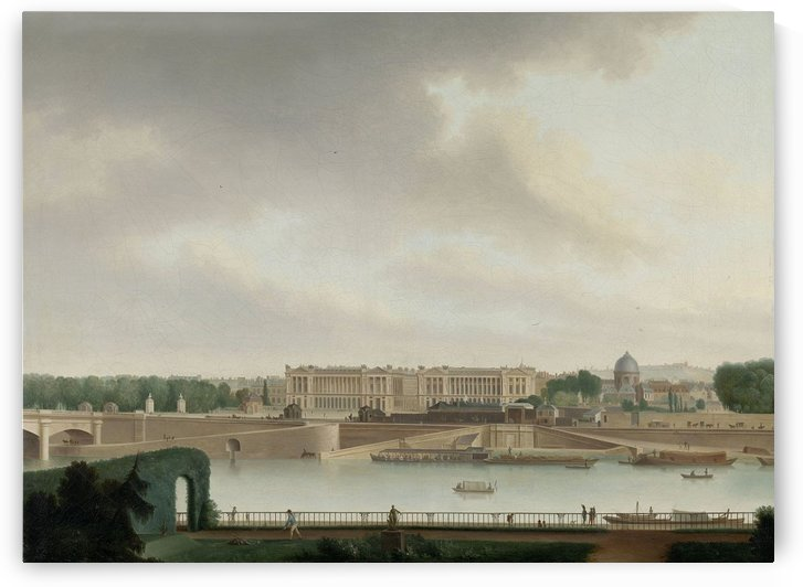 The View from the Batavian Embassy in Paris by Josephus Augustus Knip