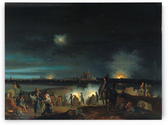 De beschieting van's Hertogenbosch door de Fransen tijdens het beleg van 1794 by Josephus Augustus Knip