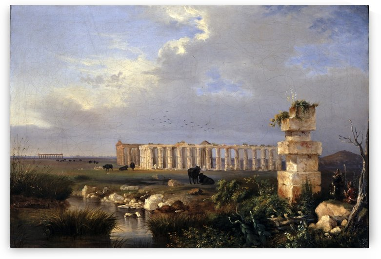 Templi di Paestum by Antonie Sminck Pitloo
