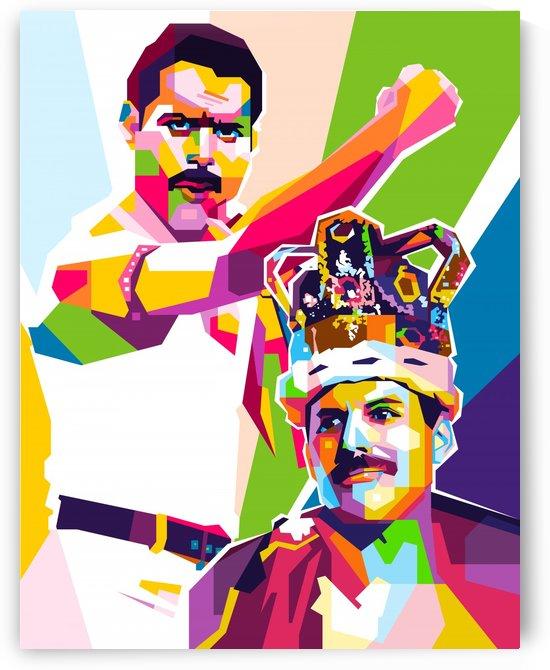 Freddie Queen Mercury by wpaprint