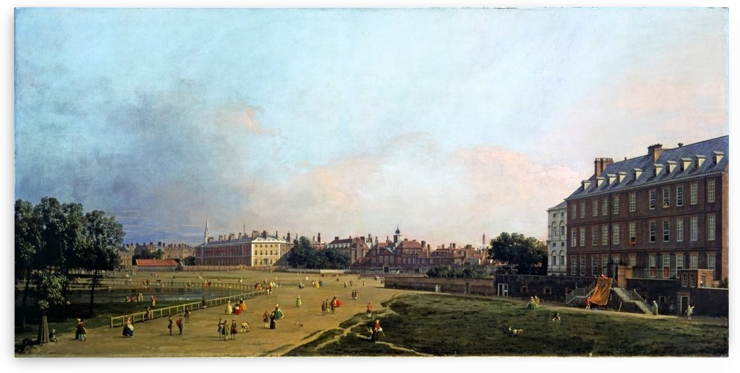 The Old Horse Guards from St James's Park by Canaletto