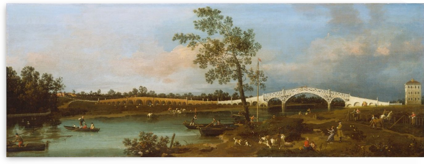 Old Walton Bridge by Canaletto
