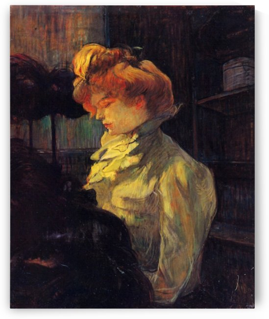 Lady Louise Blouet by Toulouse-Lautrec by Toulouse-Lautrec