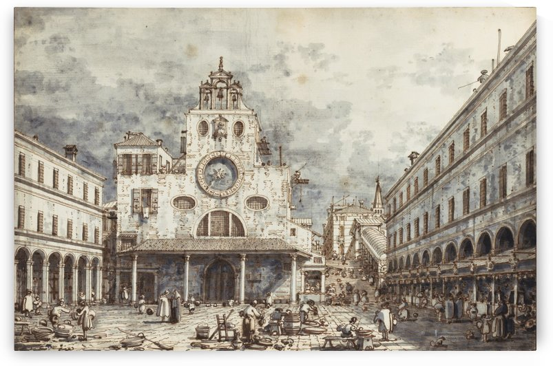 Campo San Giacomo di Rialto, Venice by Canaletto