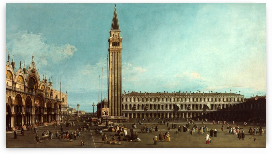 Piazza San Marco in Venice by Canaletto