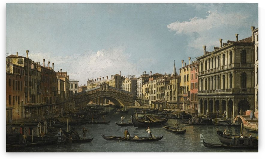 Venice, a view of the Piazza San Marco looking East towards the Basilica by Canaletto