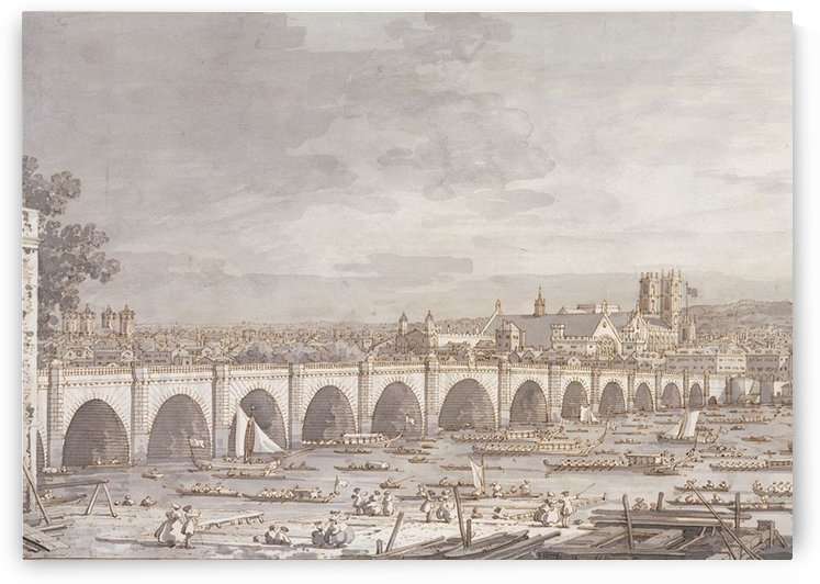 London Westminster Bridge by Canaletto