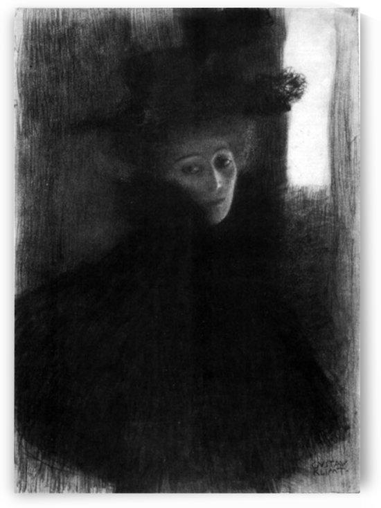 Lady with a hat and Cape by Klimt by Klimt