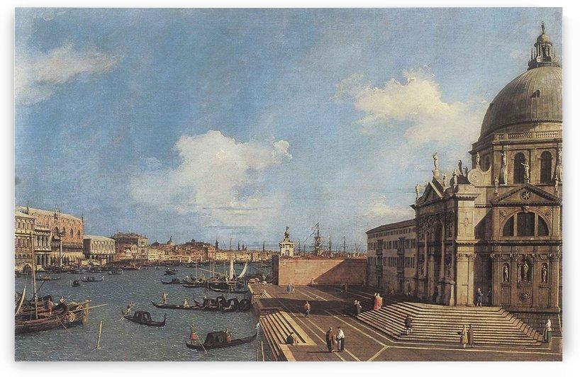 L'entrata nel Canal Grande dalla Basilica della Salute by Canaletto