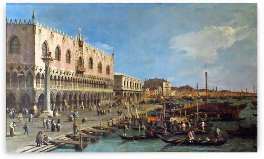 Venezia, La Riva Degli Schiavoni Verso Est by Canaletto