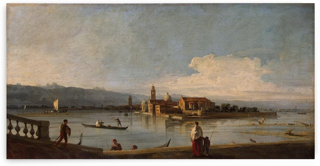 View of the Isles of San Michele, San Cristoforo and Murano from the Fondamenta Nuove by Canaletto