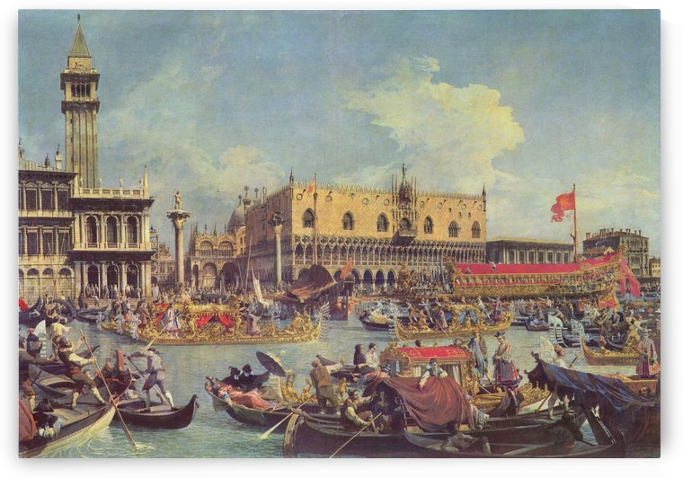 The return of the Bucentaur to the Molo on Ascension Day by Canaletto