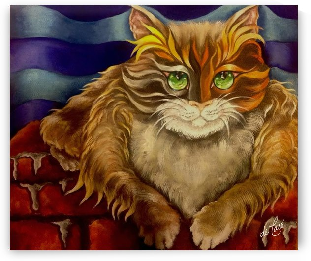 A wise cat smile .. then we look for the reason by deCaso Art
