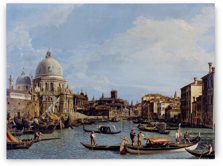 Canal Grande con la Basilica Santa Maria della Salute by Canaletto
